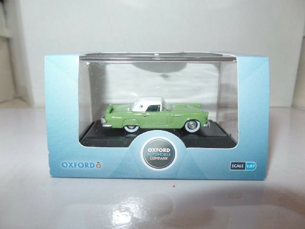 Oxford USA 87TH56003 TH56003 1/87 HO Ford Thunderbird 1956 Sage Green / White